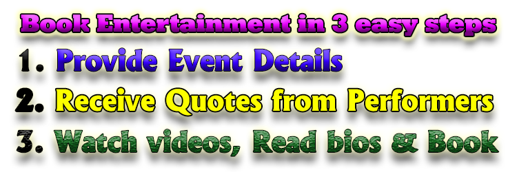 Provide event details to get performer quotes